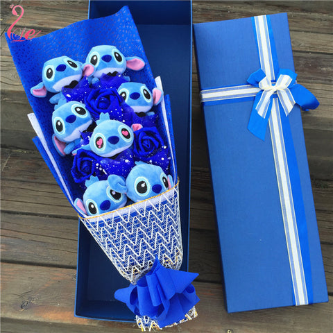 7 Stitch with Flowers bouquet Valentine Graduation gifts