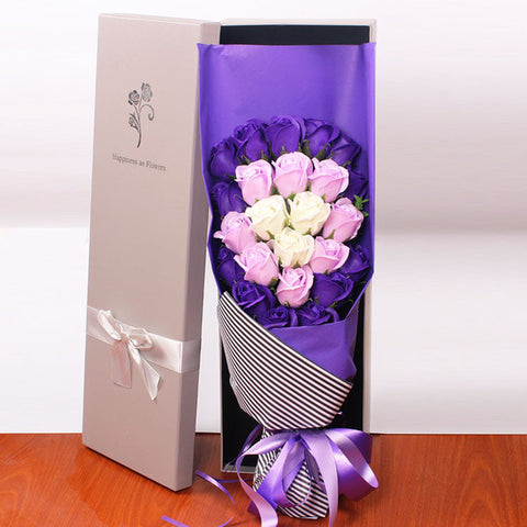 24 Soap Rose Bouquet VALENTINES GIFT