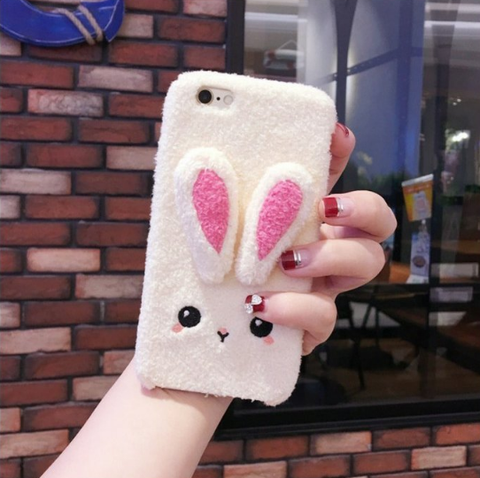 Bunny Deer plush iphone case