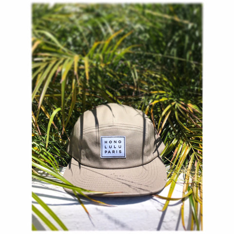Malibu - khaki 5 panel cap ON SALE!