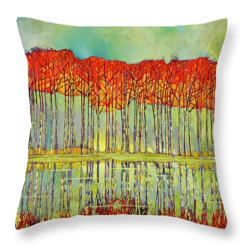 Elated Autumn - Throw Pillow