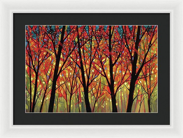 Shards Of September - Framed Print