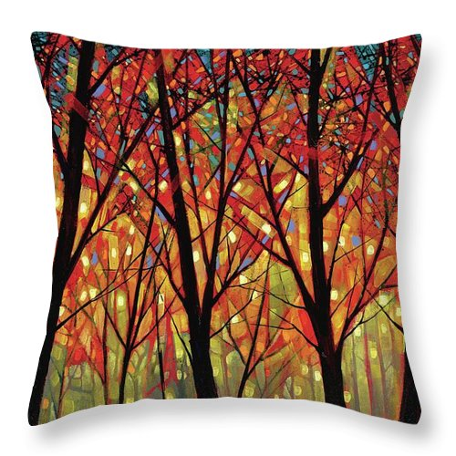Shards Of September - Throw Pillow