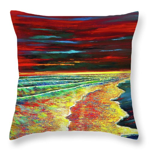 Waves Of Passion - Throw Pillow