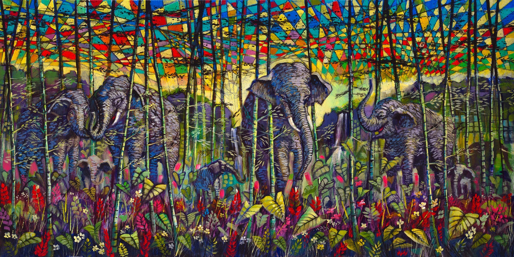 Elephant Painting, Gray Matters by Ford Smith