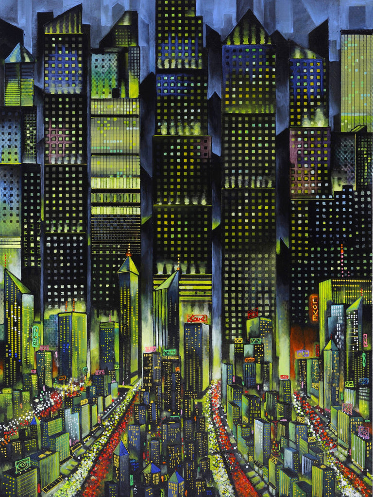 Lovin' the City by Ford Smith  Original cityscape painting