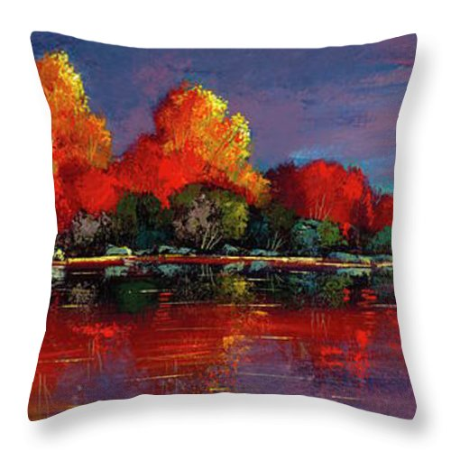 Dramatic Peace - Throw Pillow