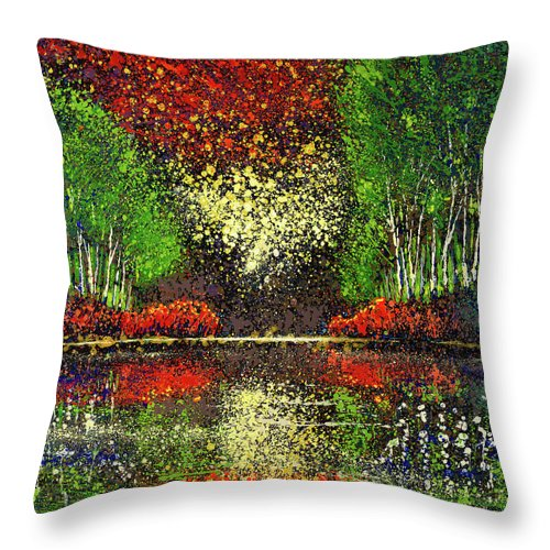 Drops Of Nature - Throw Pillow