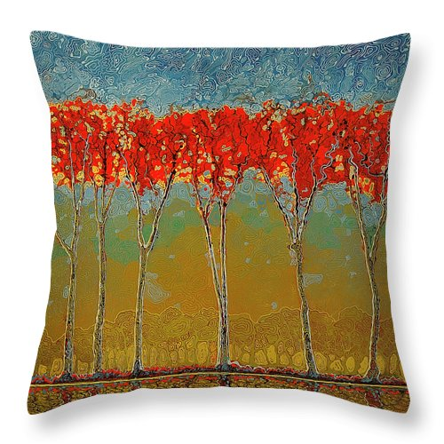 Electric Fall - Throw Pillow