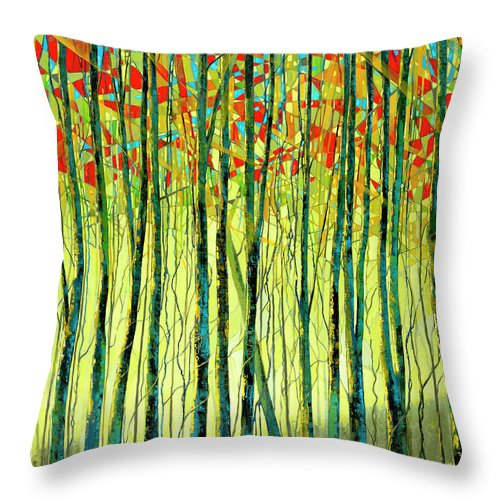 Energetic Breeze - Throw Pillow