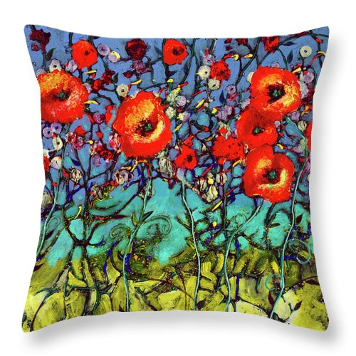Garden Rendezvous - Throw Pillow