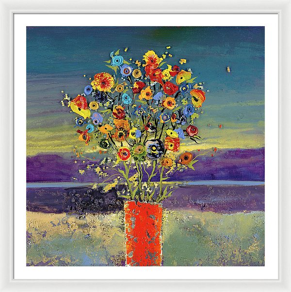 Lively Conversastion - Framed Print