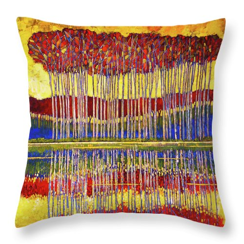 Mosaic Medley - Throw Pillow