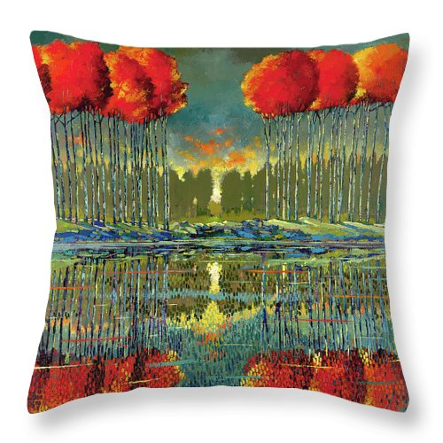 On The Rocks - Throw Pillow