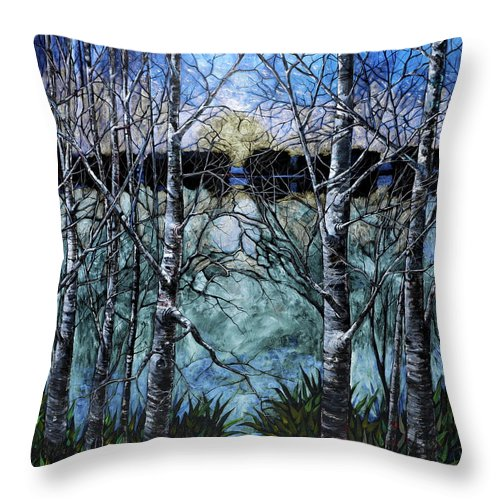 Prismatic Dusk - Throw Pillow