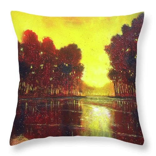 Radiant Finale - Throw Pillow