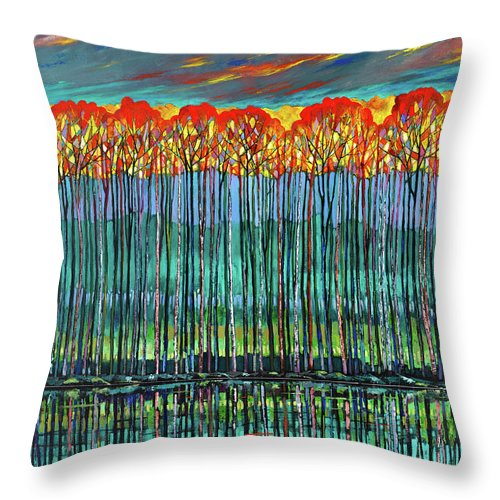 Reflective Muse - Throw Pillow