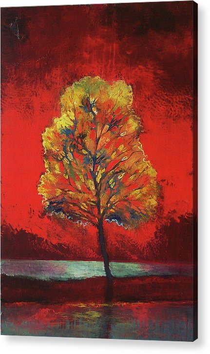 Scarlet Soliloquy - Acrylic Print