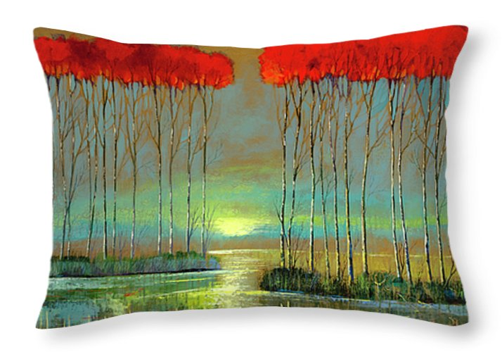 Serenity Rising - Throw Pillow