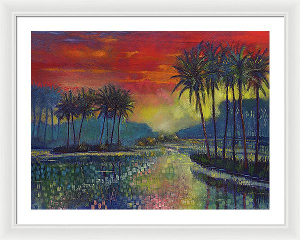 Sunset Poetry - Framed Print