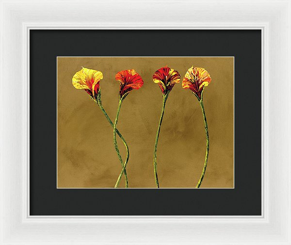 Watching Love Bloom - Framed Print