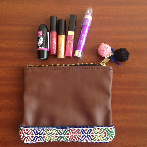 Beaded Make Up Pouch
