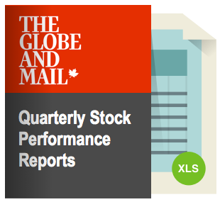 The Globe and Mail quarterly stock performance reports