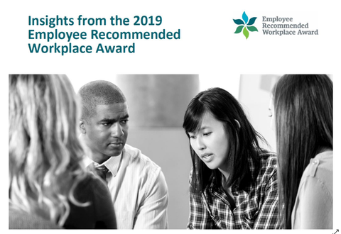 2019 Employee Recommended Workplace Award Benchmarks