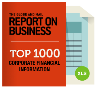 2014 Report on Business Top 1000 10-year Historical Financials Package *NEW*