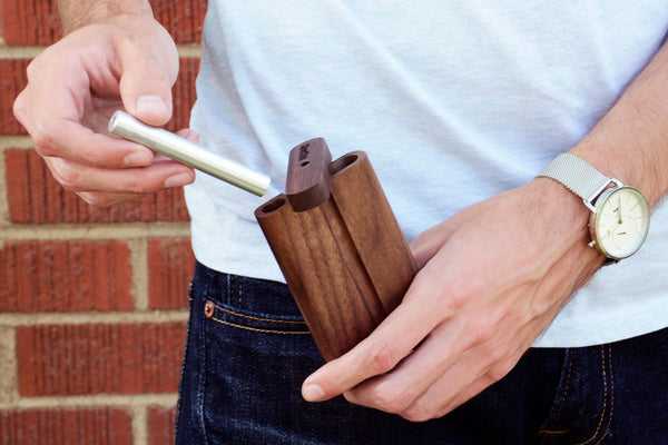 silverstick wooden dugout for one hitter pipe