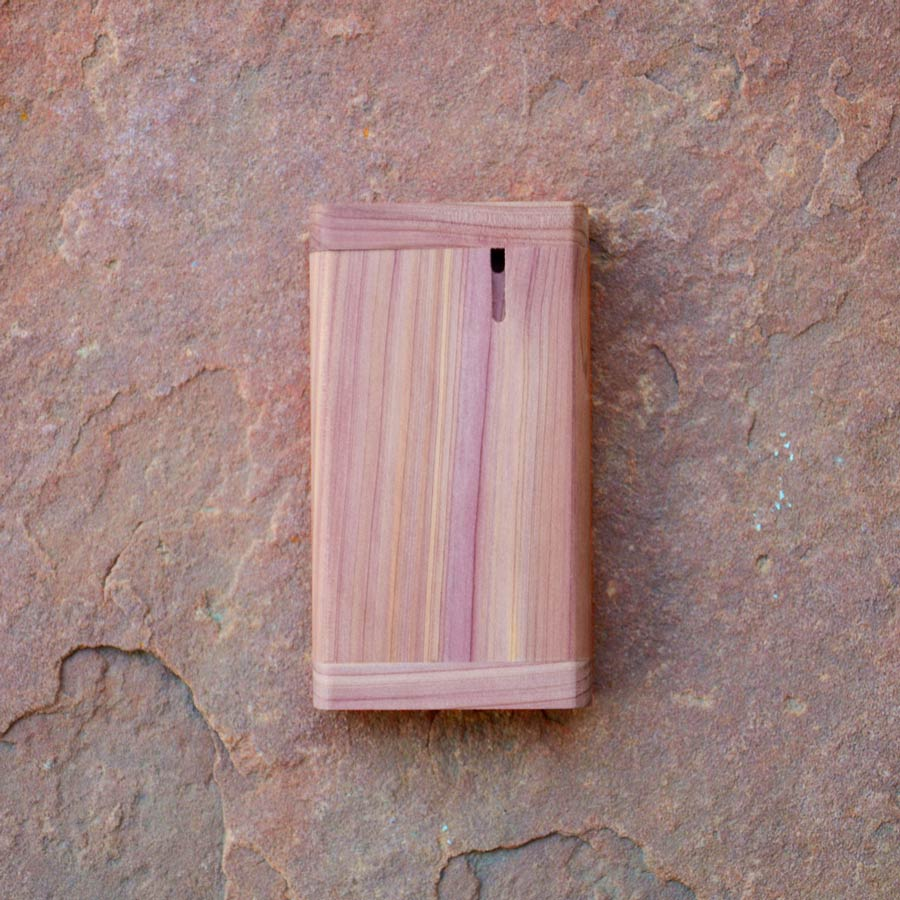 aromatic cedar wood dugout box for pipe
