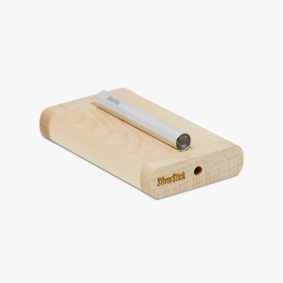 maple dugout for silverstick chillum pipe (1352558542940)
