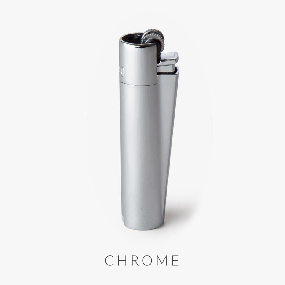 chrome clipper lighter with replaceable flint