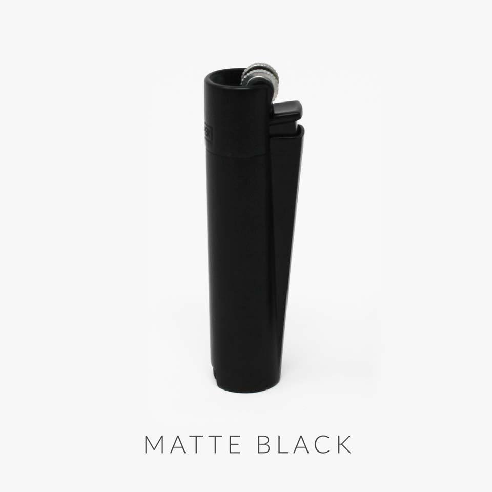 matte black metal clipper lighter