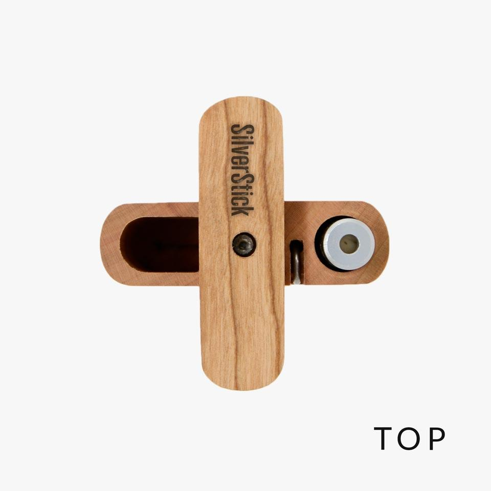 top of cherry wood dugout for one hitter chillum (1352563523676)
