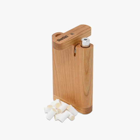 Cherry wood dugout for silverstick pipe with filter (1352563523676)