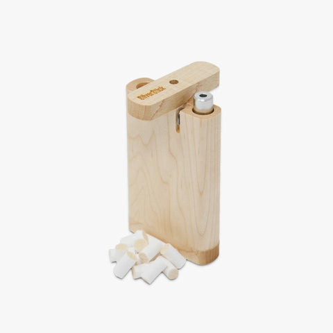 maple wood dugout box for silverstick one hitter pipe with a filter