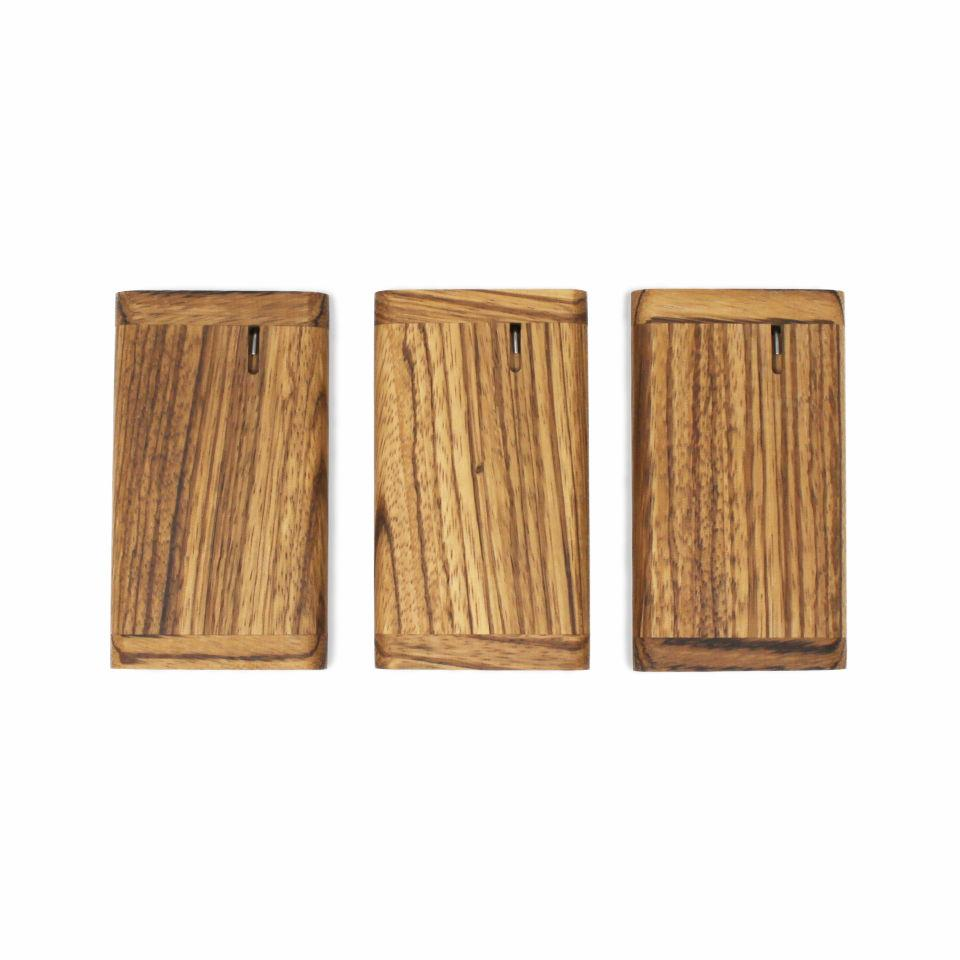 multiple zebrawood one hitter dugout boxes sitting side by side