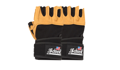 Schiek Power Series Lifting Gloves with Wrist Wraps 425 (Bao Tay Tập Gym & Quấn Cổ Tay 2in1 425) - Muscle UP