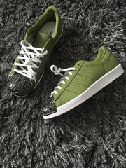 DIAMOND CRYSTAL FRONT KHAKI ADIDAS SUPERSTARS - RYSNC