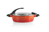 Virgo 24cm Covered 2-Handle Deep Skillet
