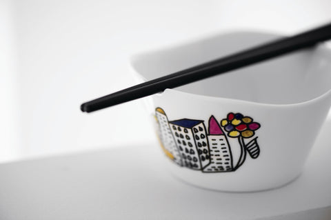 Eclipse Set of 2 21cm Rice Bowls with Chopsticks