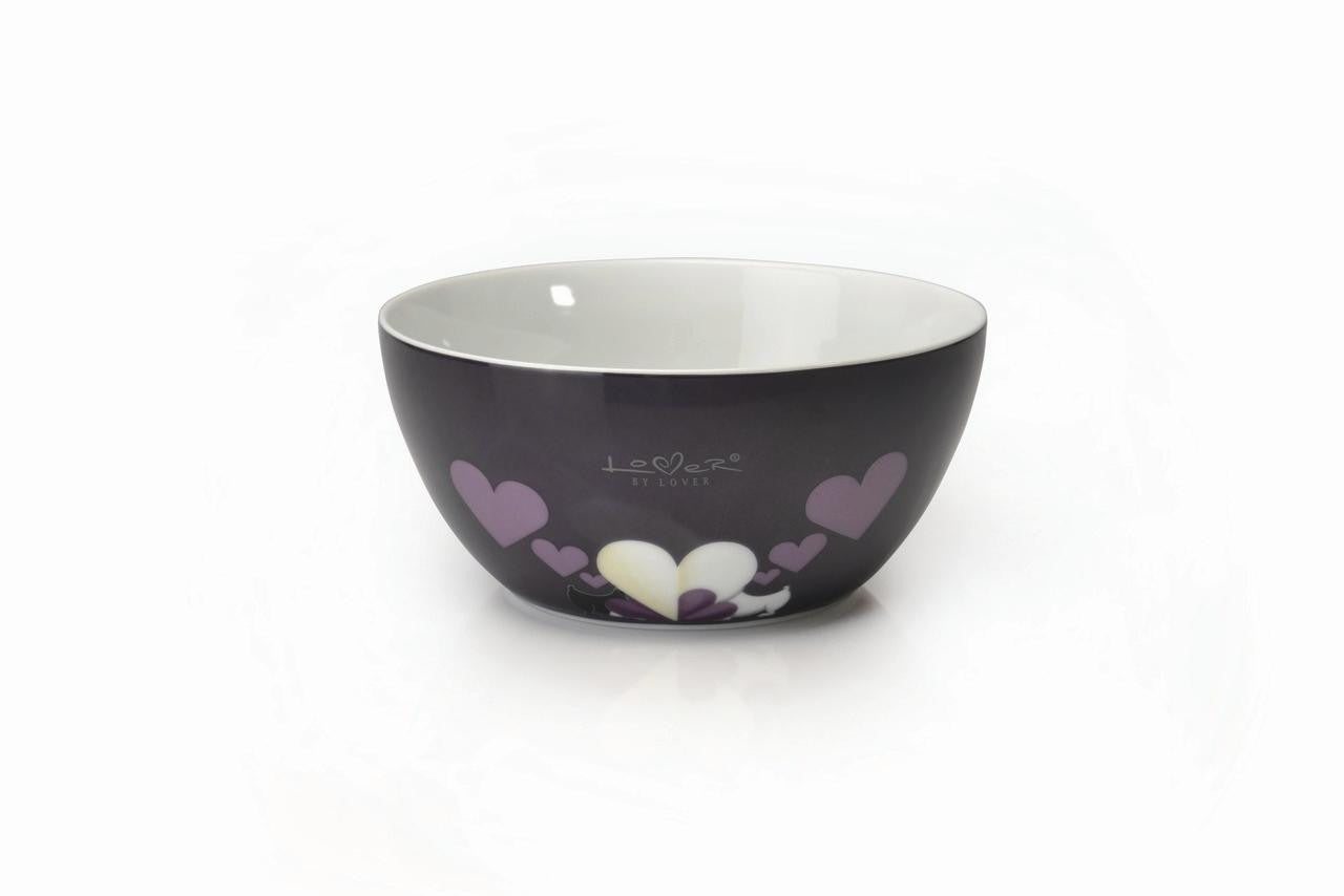 Lover by Lover Set of 2 Purple Porcelain Cereal Bowls
