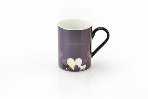 Lover by Lover Set of 2 Purple Porcelain Coffee Mugs