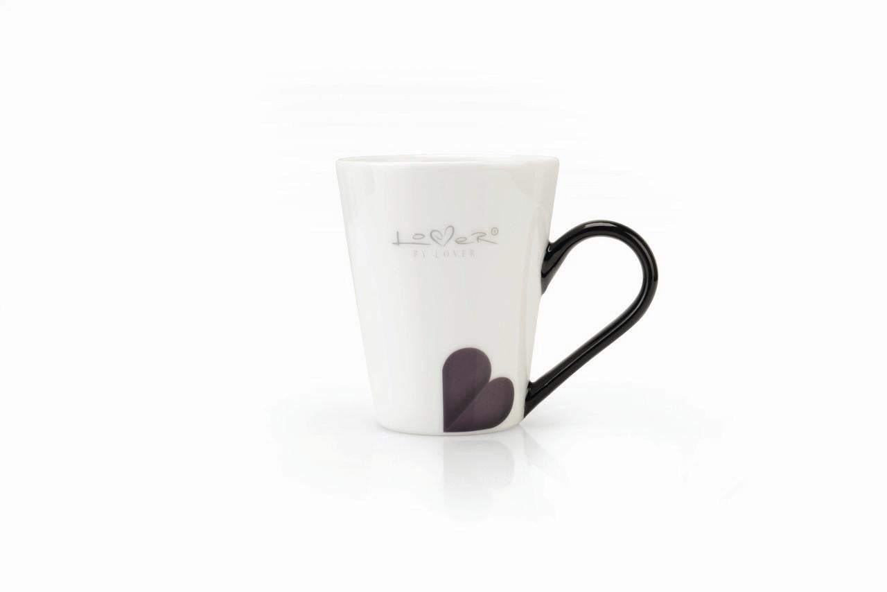 Lover by Lover Set of 2 White Porcelain Coffee Mugs