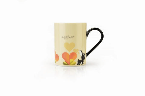 Lover by Lover Set of 2 Beige Porcelain Coffee Mugs