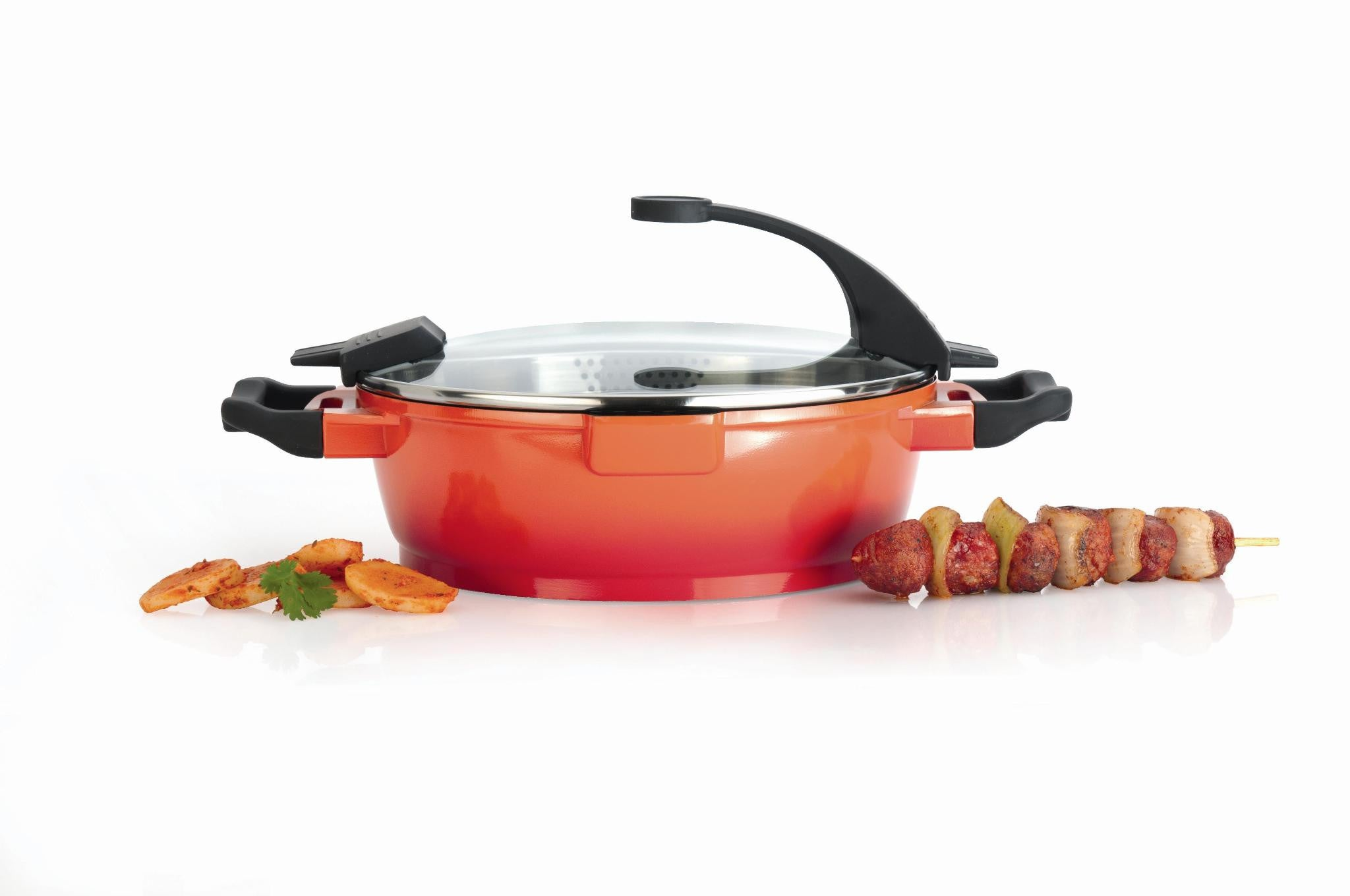 Virgo 28cm Covered 2-Handle Deep Skillet