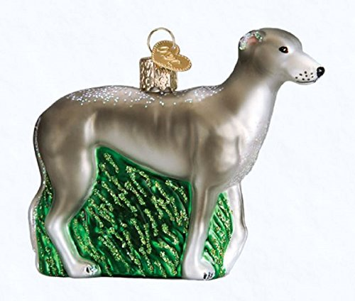 Old World Christmas Greyhound Dog Glass Blown Ornament - Old World Christmas Greyhound Dog Glass Blown Ornament €� For The