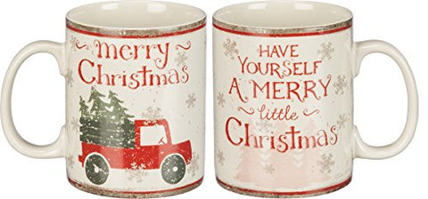 Merry Christmas Tree Farm Primitives By Kathy 20 Ounce Stoneware Mug
