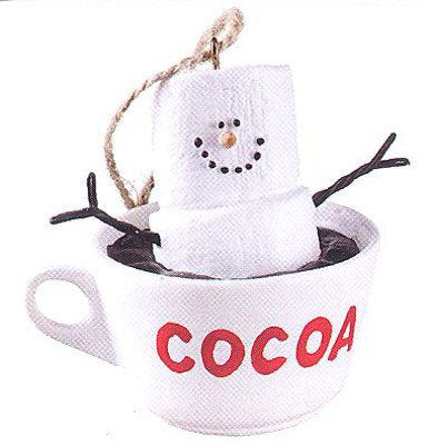 Hot Chocolate Cocoa Marshmallow S'more Christmas Ornament
